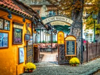 Собирать пазл Ресторан в Праге онлайн