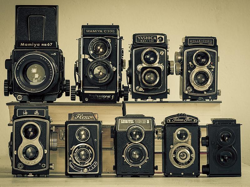 Пазл Собирать пазлы онлайн - Ретро камеры