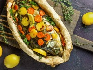 Собирать пазл Рыба в пергаменте онлайн