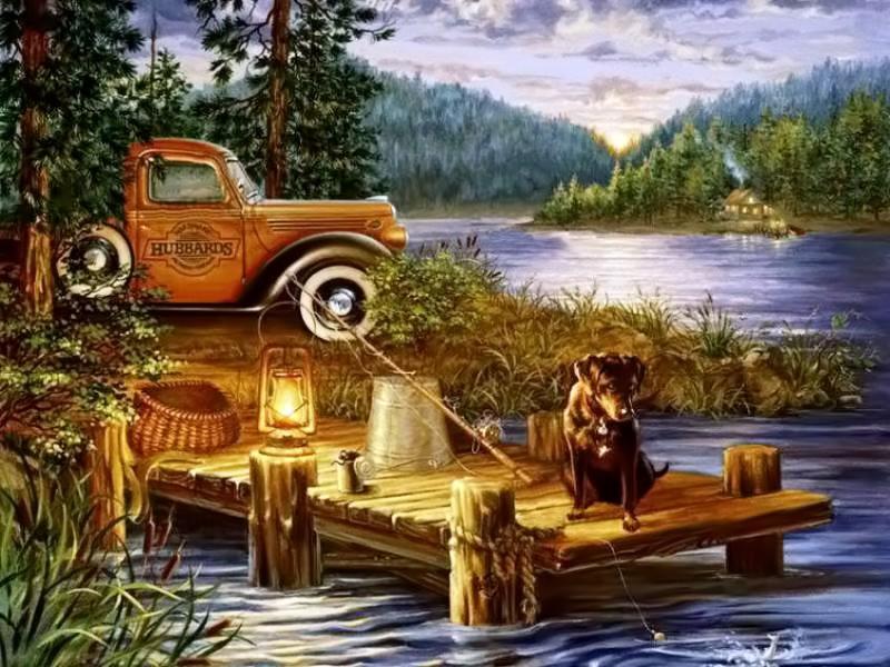Пазл Собирать пазлы онлайн - Рыбалка