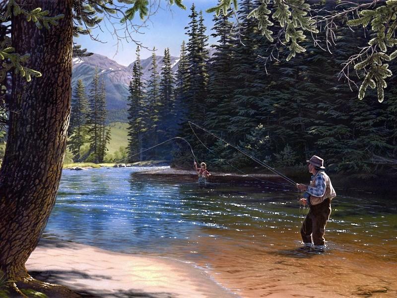 Пазл Собирать пазлы онлайн - Рыбалка 1