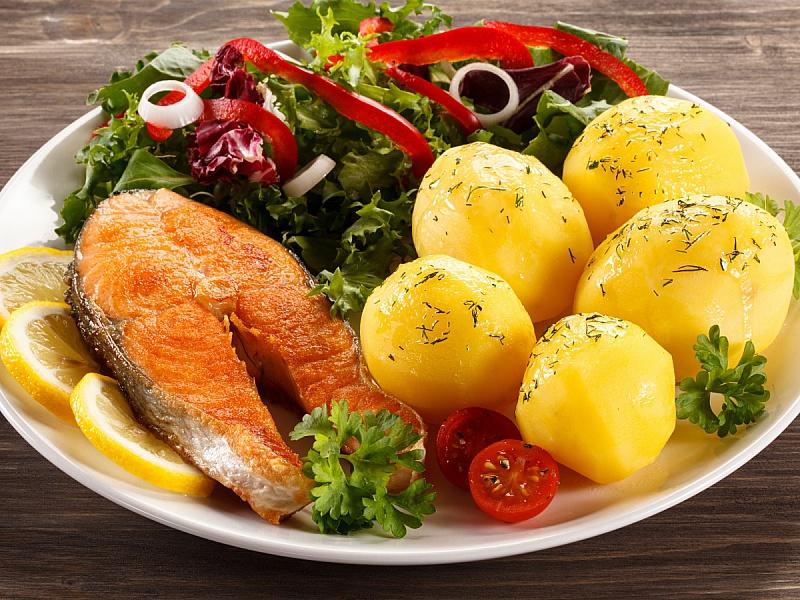 Пазл Собирать пазлы онлайн - Рыбная вкуснятина