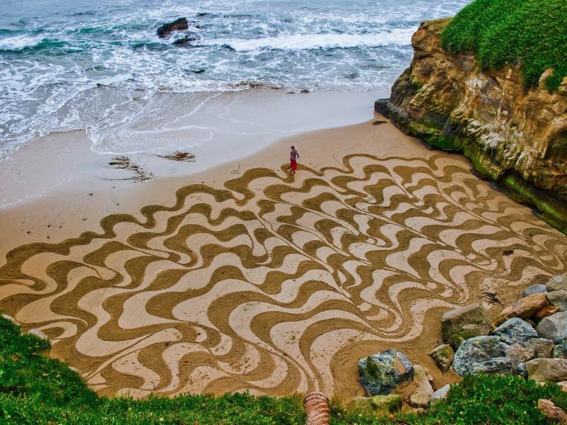 Пазл Собирать пазлы онлайн - Рисунки на песке