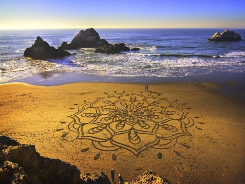 Пазл Собирать пазлы онлайн - Рисунок на песке