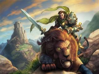 Собирать пазл Рыцарь на льве онлайн