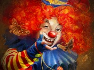 Собирать пазл Рыжий клоун онлайн