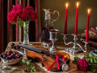 Собирать пазл Романтический вечер онлайн