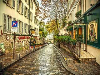 Собирать пазл Романтика Парижа онлайн