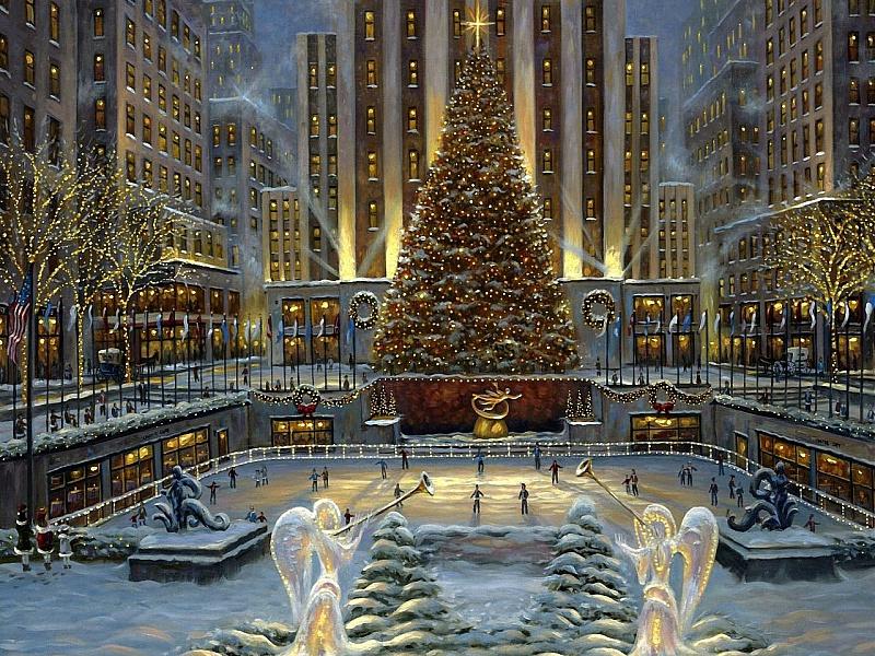 Пазл Собирать пазлы онлайн - Рождество. Нью-Йорк