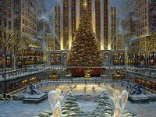 Собирать пазл Рождество. Нью-Йорк онлайн