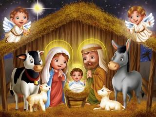 Собирать пазл Рождение Иисуса онлайн