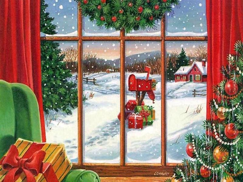Пазл Собирать пазлы онлайн - Рождественская почта