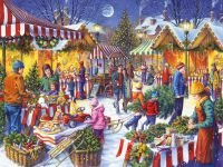 Собирать пазл Рождественский базар онлайн