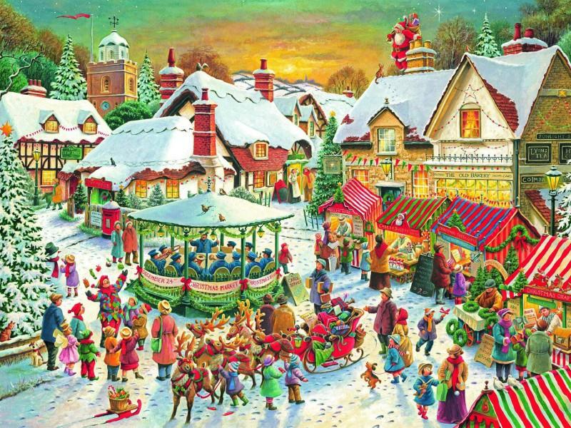 Пазл Собирать пазлы онлайн - Рождественская ярмарка