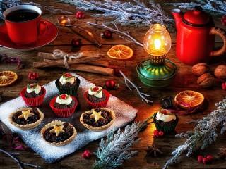 Собирать пазл Рождественские кексы онлайн