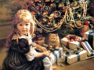Собирать пазл Рождественские подарки онлайн