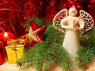 Собирать пазл Рождественский ангел онлайн