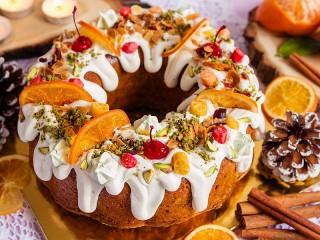 Собирать пазл Рождественский кекс онлайн
