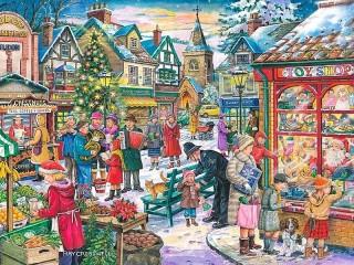 Собирать пазл Рождественский рынок онлайн