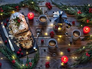 Собирать пазл Рождественский рулет онлайн