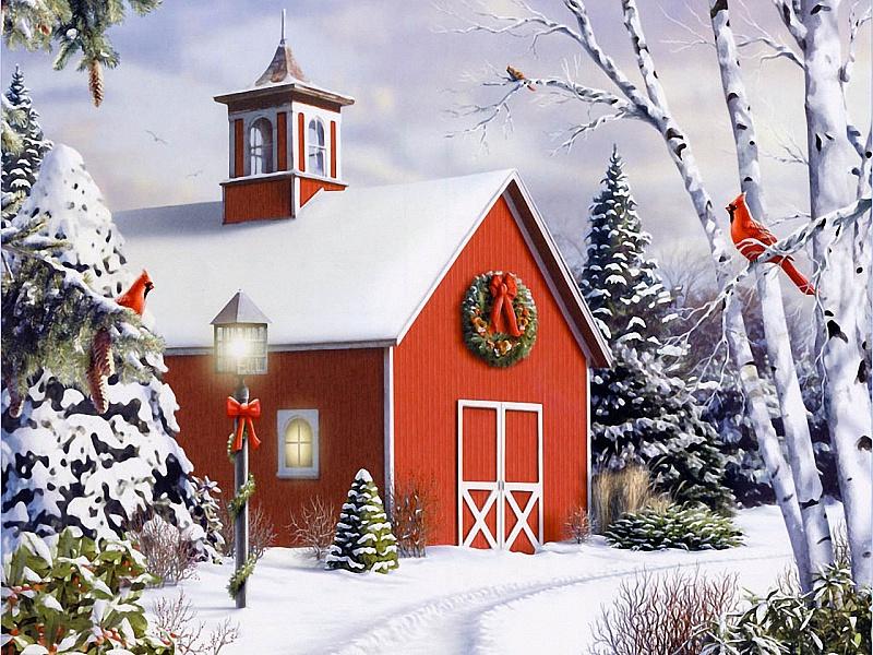 Пазл Собирать пазлы онлайн - Рождественский домик