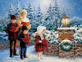 Собирать пазл Рождественский хор онлайн