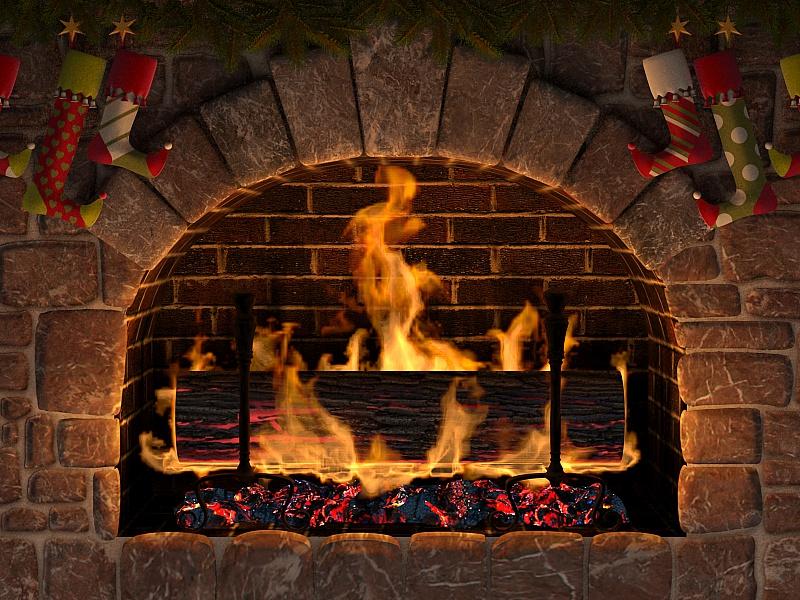 Пазл Собирать пазлы онлайн - Рождественский камин