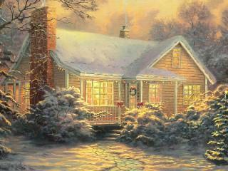Собирать пазл Рождество Кинкейда онлайн