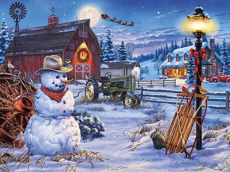 Пазл Собирать пазлы онлайн - Рождество на ферме