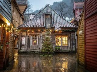 Собирать пазл Рождество в Норвегии онлайн