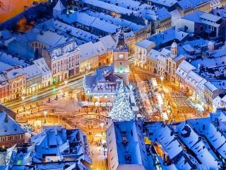 Собирать пазл Рождество в Румынии онлайн