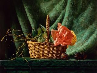 Собирать пазл Розы и сливы онлайн