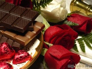 Собирать пазл Розы в шоколаде онлайн