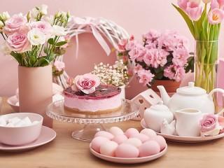 Собирать пазл Розовая Пасха онлайн