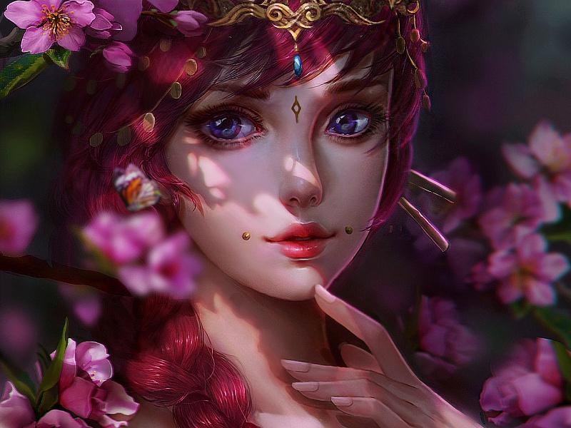 Пазл Собирать пазлы онлайн - Розовая принцесса