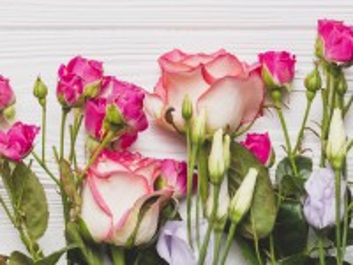 Собирать пазл Розовые на белом онлайн
