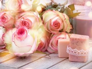Собирать пазл Розовый релакс онлайн