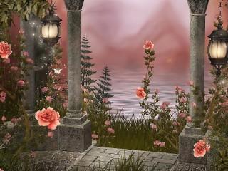 Собирать пазл Розовый вечер онлайн