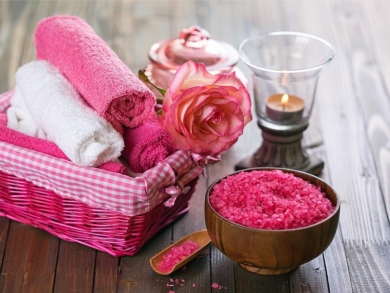 Пазл Собирать пазлы онлайн - Розовое спа