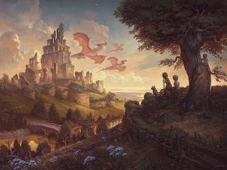 Собирать пазл Руины и драконы онлайн