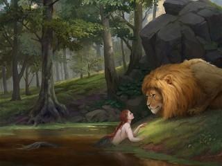 Собирать пазл Русалка и лев онлайн