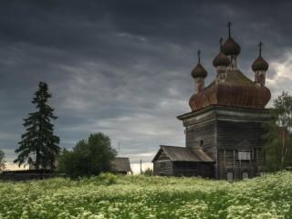 Собирать пазл Русский север  онлайн