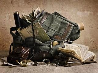 Собирать пазл Рюкзак и карты онлайн