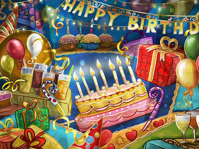 Пазл Собирать пазлы онлайн - С днем рождения