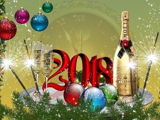 Собирать пазл С Новым 2018 онлайн