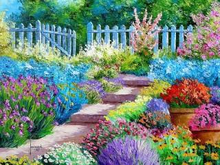 Собирать пазл Сад любителя цветов онлайн