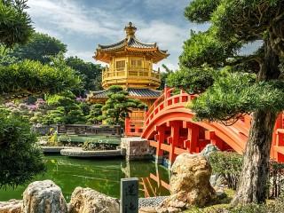 Собирать пазл Сад Нан Лиан онлайн