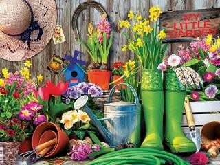 Собирать пазл Садовый инструмент онлайн