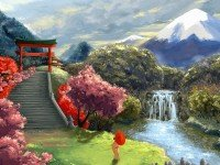 Собирать пазл Сакура Гейша онлайн