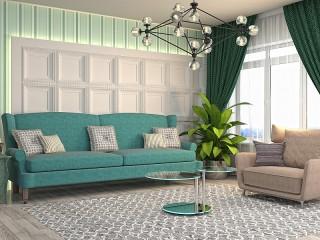 Собирать пазл Салатовая гостиная онлайн